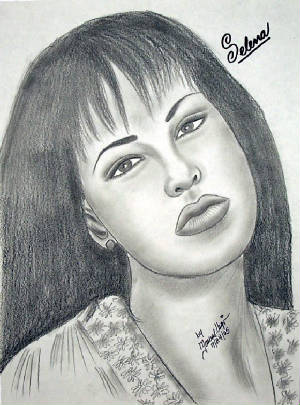 Selena art sketch drawing in pencil